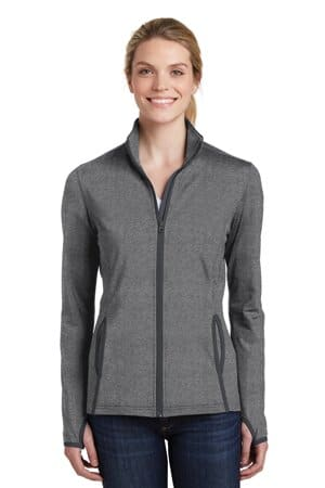 sport-tek ladies sport-wick stretch contrast full-zip jacket lst853
