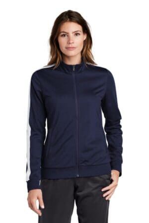 LST94 sport-tek ladies tricot track jacket