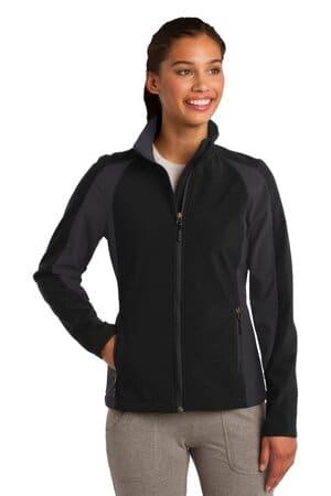 sport-tek ladies colorblock soft shell jacket lst970