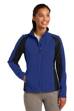 sport-tek ladies colorblock soft shell jacket lst970