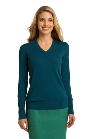 LSW285 port authority ladies v-neck sweater lsw285
