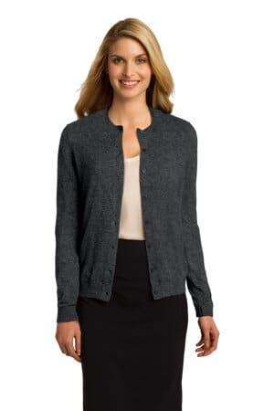LSW287 port authority ladies cardigan sweater