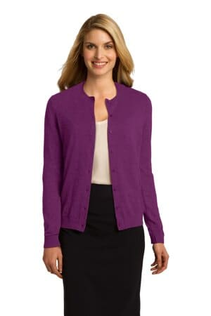 LSW287 port authority ladies cardigan sweater lsw287