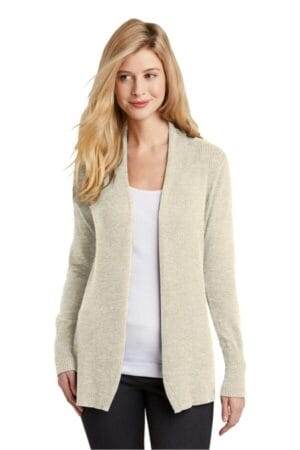 LSW289 port authority ladies open front cardigan sweater