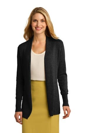 port authority ladies open front cardigan sweater lsw289