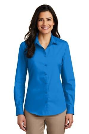 LW100 port authority ladies long sleeve carefree poplin shirt