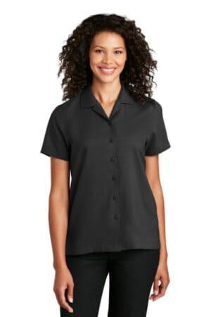port authority ladies short sleeve performance staff shirt lw400