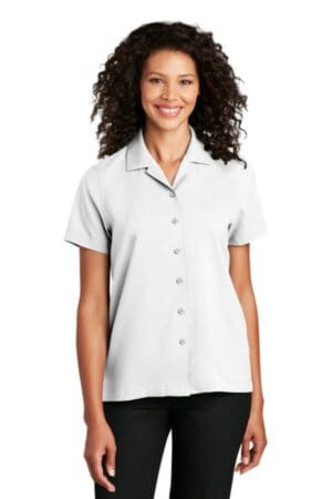 LW400 port authority ladies short sleeve performance staff shirt