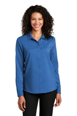 port authority ladies long sleeve performance staff shirt lw401