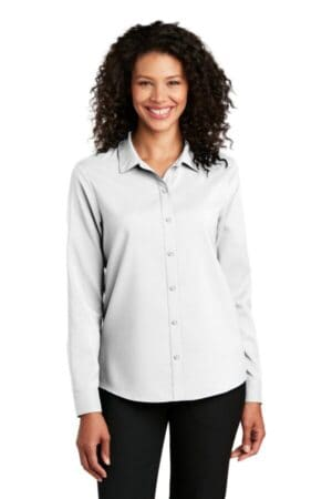 port authority ladies long sleeve performance staff shirt lw401