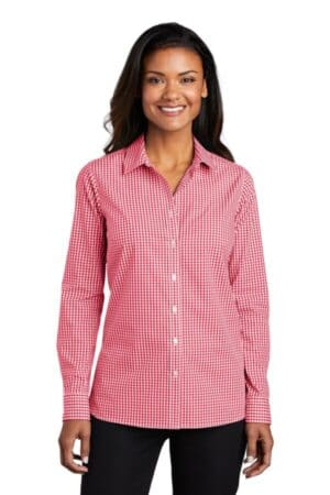 LW644 port authority ladies broadcloth gingham easy care shirt