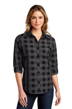 LW670 port authority ladies everyday plaid shirt