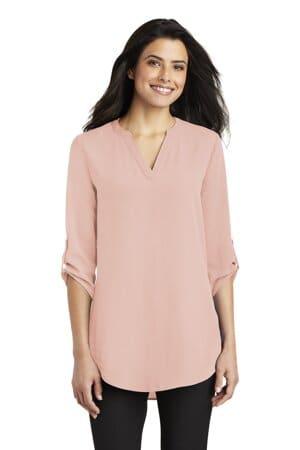port authority ladies 3/4-sleeve tunic blouse lw701