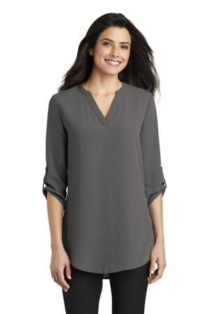 port authority ladies 3/4-sleeve tunic blouse lw701