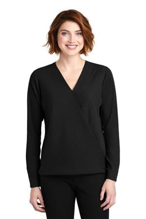 LW702 port authority ladies wrap blouse lw702