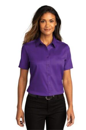LW809 port authority ladies short sleeve superpro react twill shirt