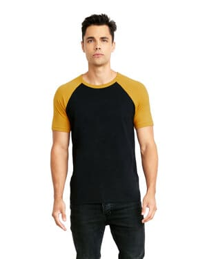 N3650 Next level unisex raglan short-sleeve t-shirt