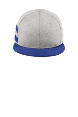 new era shadow heather striped flat bill snapback cap ne408