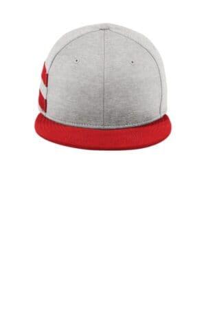 NE408 new era shadow heather striped flat bill snapback cap