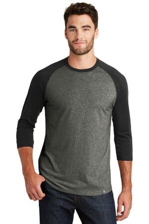 new era heritage blend 3/4-sleeve baseball raglan tee nea104