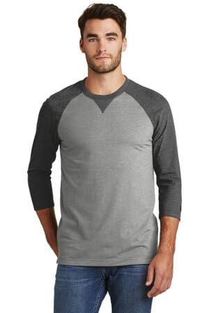 new era sueded cotton blend 3/4-sleeve baseball raglan tee nea121