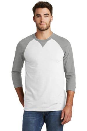 NEA121 new era sueded cotton blend 3/4-sleeve baseball raglan tee