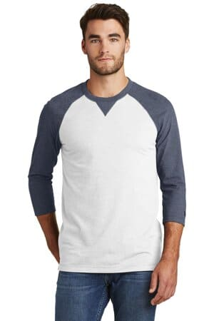new era sueded cotton blend 3/4-sleeve baseball raglan tee nea121
