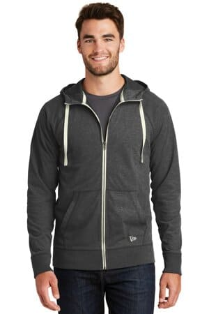 new era sueded cotton blend full-zip hoodie nea122