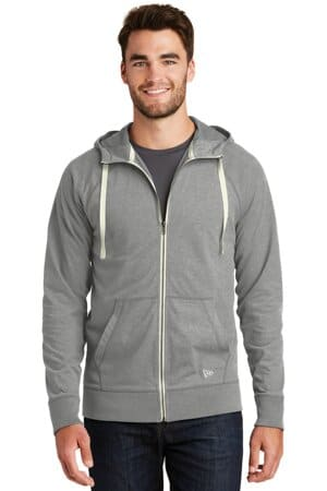 NEA122 new era sueded cotton blend full-zip hoodie