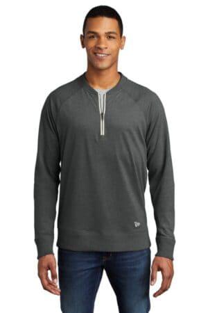NEA123 new era sueded cotton blend 1/4-zip pullover