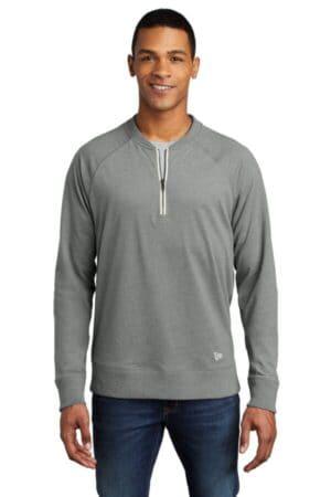 new era sueded cotton blend 1/4-zip pullover nea123