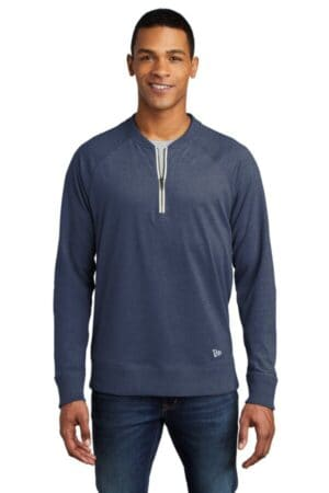 new era sueded cotton blend 1/4-zip pullover nea123