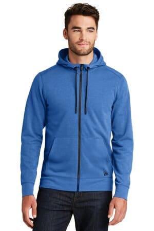 NEA511 new era tri-blend fleece full-zip hoodie