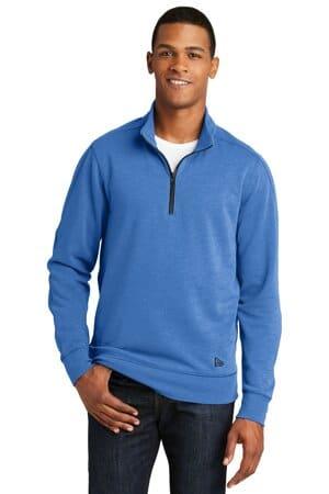 NEA512 new era tri-blend fleece 1/4-zip pullover