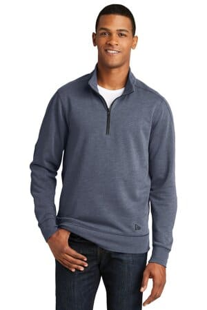 NEA512 new era tri-blend fleece 1/4-zip pullover nea512