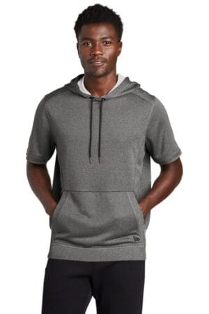 NEA533 new era performance terry short sleeve hoodie