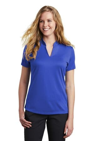nike ladies dri-fit hex textured v-neck top nkaa1848