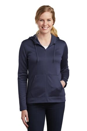nike ladies therma-fit full-zip fleece hoodie nkah6264