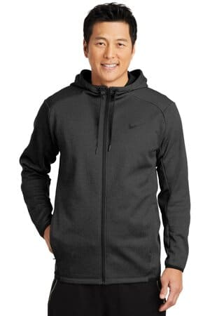 nike therma-fit textured fleece full-zip hoodie nkah6268