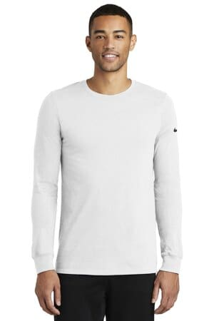 nike dri-fit cotton/poly long sleeve tee nkbq5230