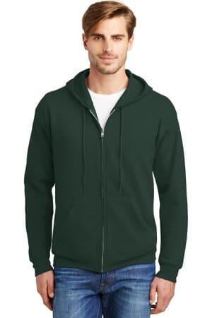 P180 hanes-ecosmart full-zip hooded sweatshirt