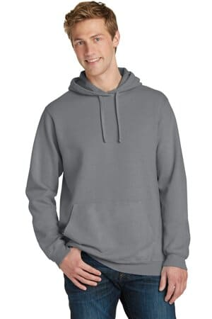 port & company beach wash garment-dyed pullover hooded sweatshirt pc098h