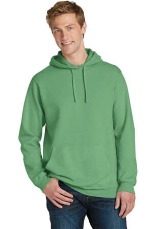 port & company beach wash garment-dyed pullover hooded sweatshirt pc098h
