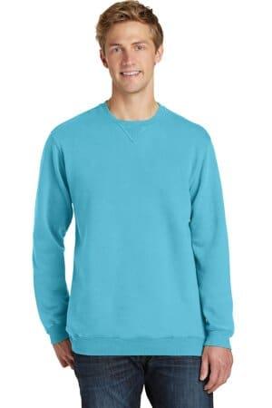 port & company beach wash garment-dyed sweatshirt pc098