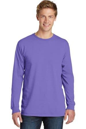 port & company beach wash garment-dyed long sleeve tee pc099ls