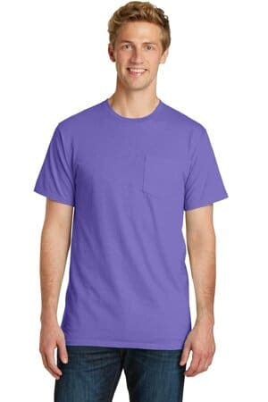 port & company beach wash garment-dyed pocket tee pc099p