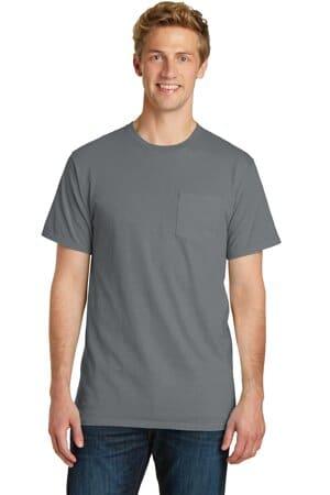 PC099P port & company beach wash garment-dyed pocket tee