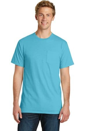 port & company beach wash garment-dyed pocket tee pc099p