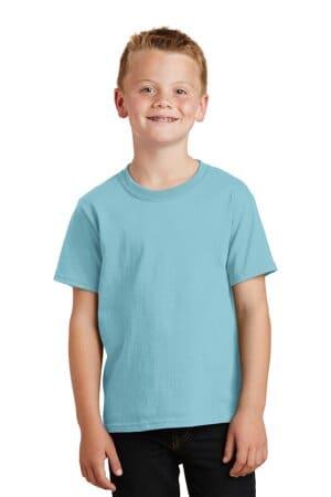 port & company youth beach wash garment-dyed tee pc099y