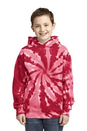 port & company youth tie-dye pullover hooded sweatshirt pc146y